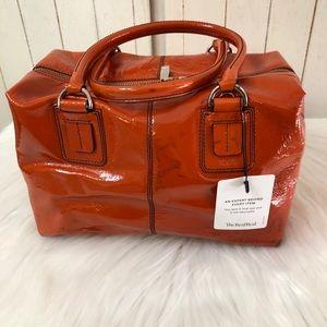 Tod's Orange Square Satchel Bag